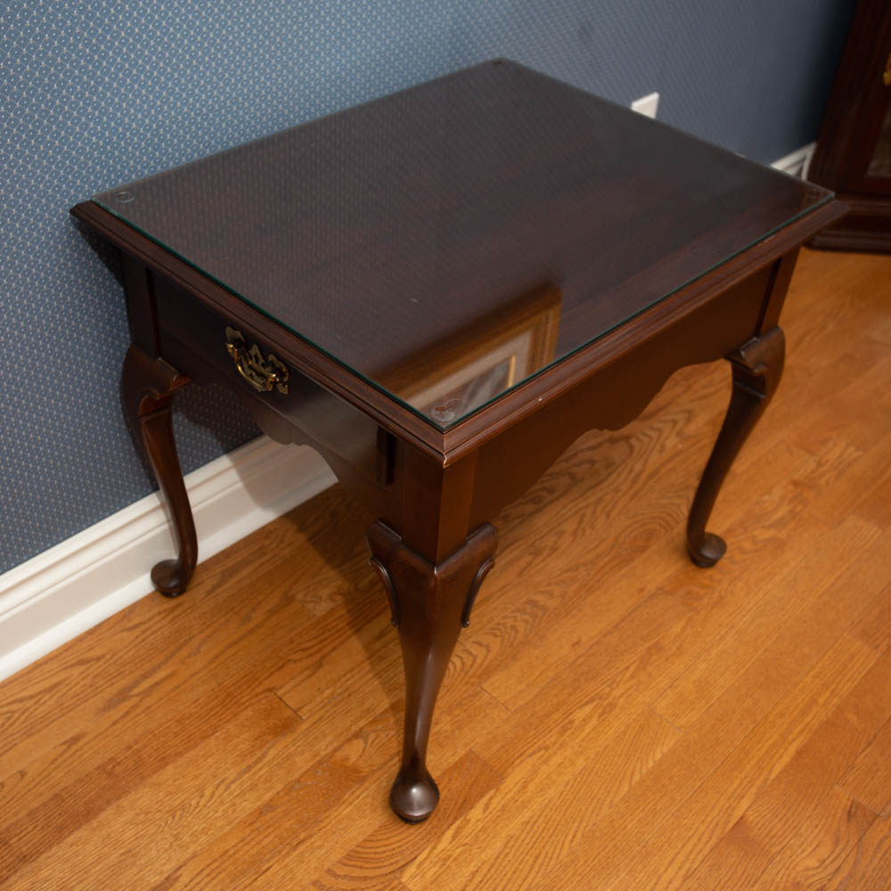 ethan allen solid cherry end table lot img tables living room side with storage round thin white bedside riverside dining set whalen furniture lamar entertainment center