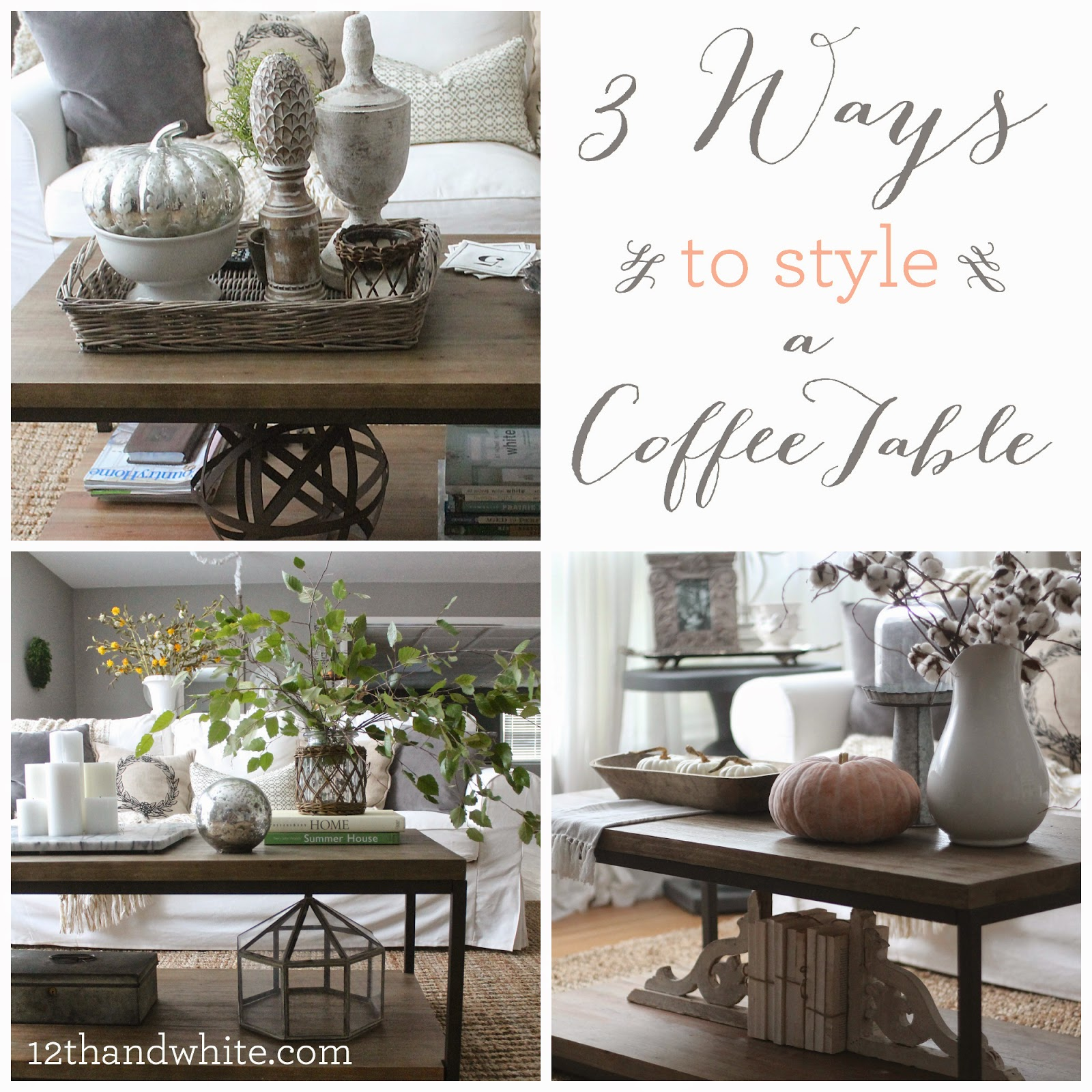 farmhouse living room end table decor design ideas and white ways style coffee barbara barry dining chairs round side with shelf lamp combo ikea leon sofa tree stump cocktail