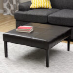 faux leather end table roccommunity furniture saving small spaces living room desgin using custom squre ott coffe with black top and wooden legs ideas square coffee tables 150x150
