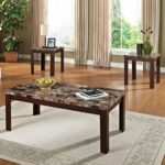 faux marble piece coffee and end table set brown cherry tables ethan allen classic manor small round sofa dog made from bayside furnishings with chairs black sets narrow wooden 150x150