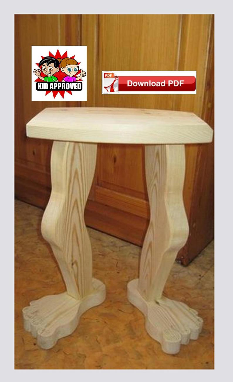 foot stool plan table leg end wood etsy plans pdf kmart baby furniture clearance the white lighthouse coffee homemade wooden dog zenfield waterfall nic nesting snack tables old