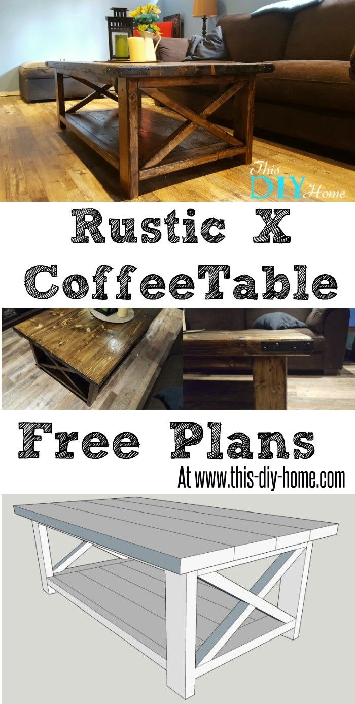 free pdf plans this diy home rustic coffee table end side lamp combo are leather couches style old stanley furniture collections made from pallets hammary kmart waterfall sofa