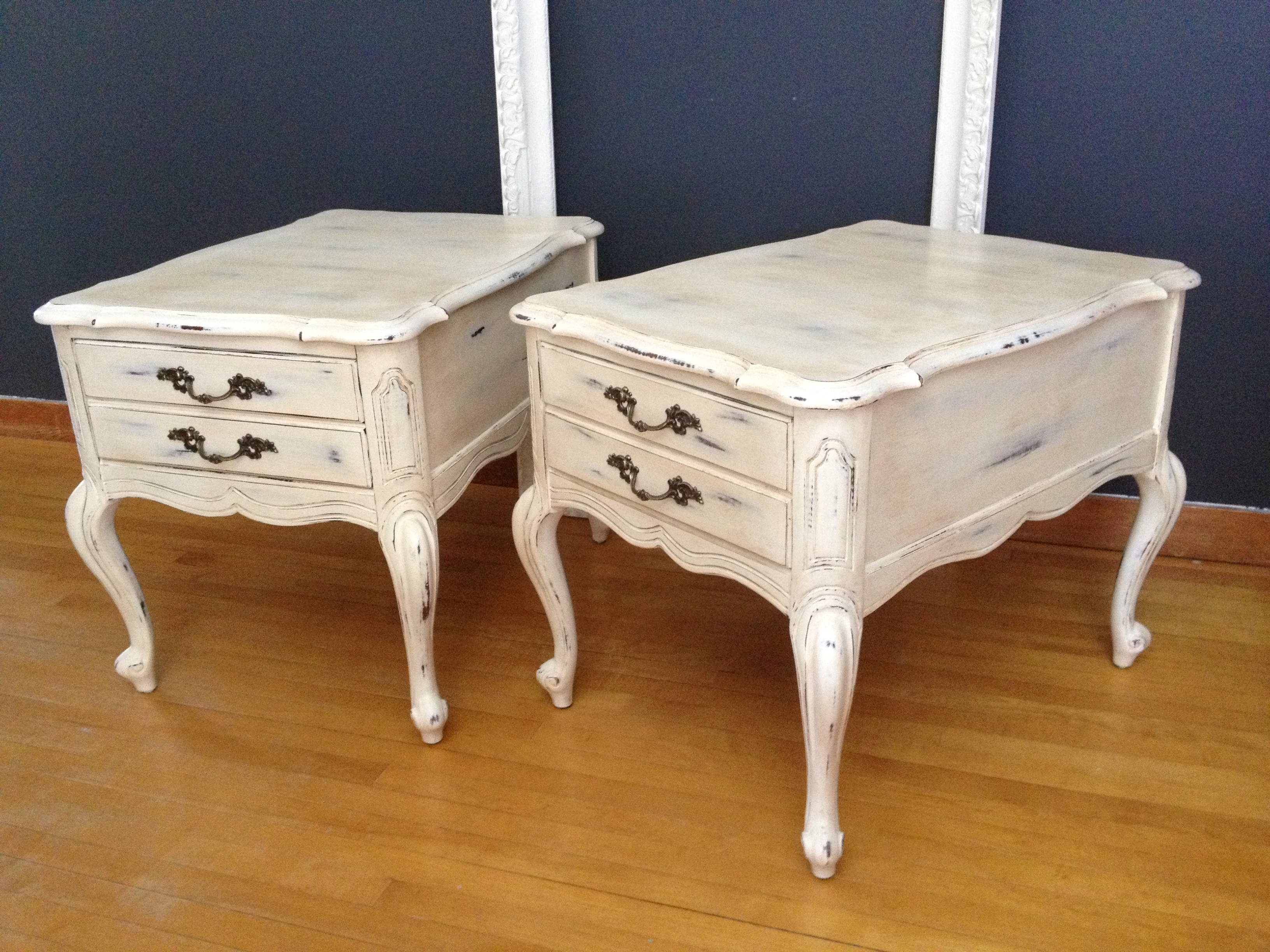 french provincial styled end tables painted with annie sloan chalk img diy closet shelf dividers cowhide fireplace table area rugs round glass coffee top replacement best night