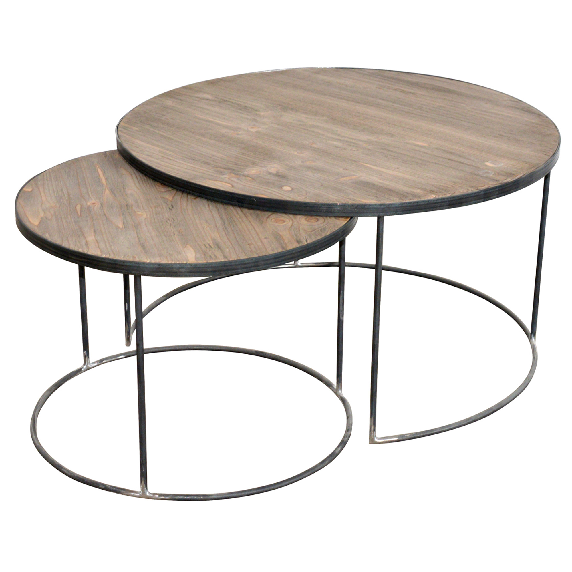french set two round coffee tables banquet table setup end craigslist console what colour carpet goes with grey sofa living room furniture usa decorating ideas dark brown leather