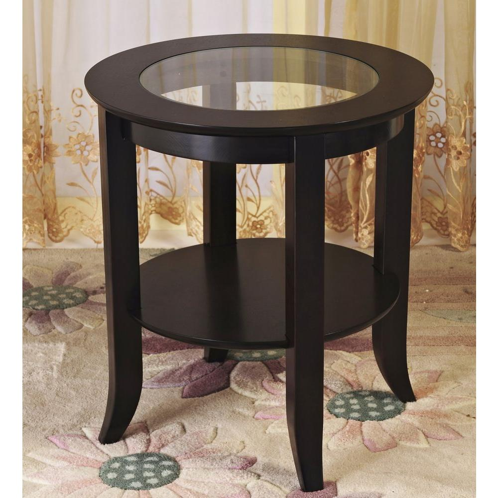 frenchi home furnishing genoa espresso end table the homecraft furniture tables round ethan allen wing chair modern square inch dog crate free shipping decorating ideas for family