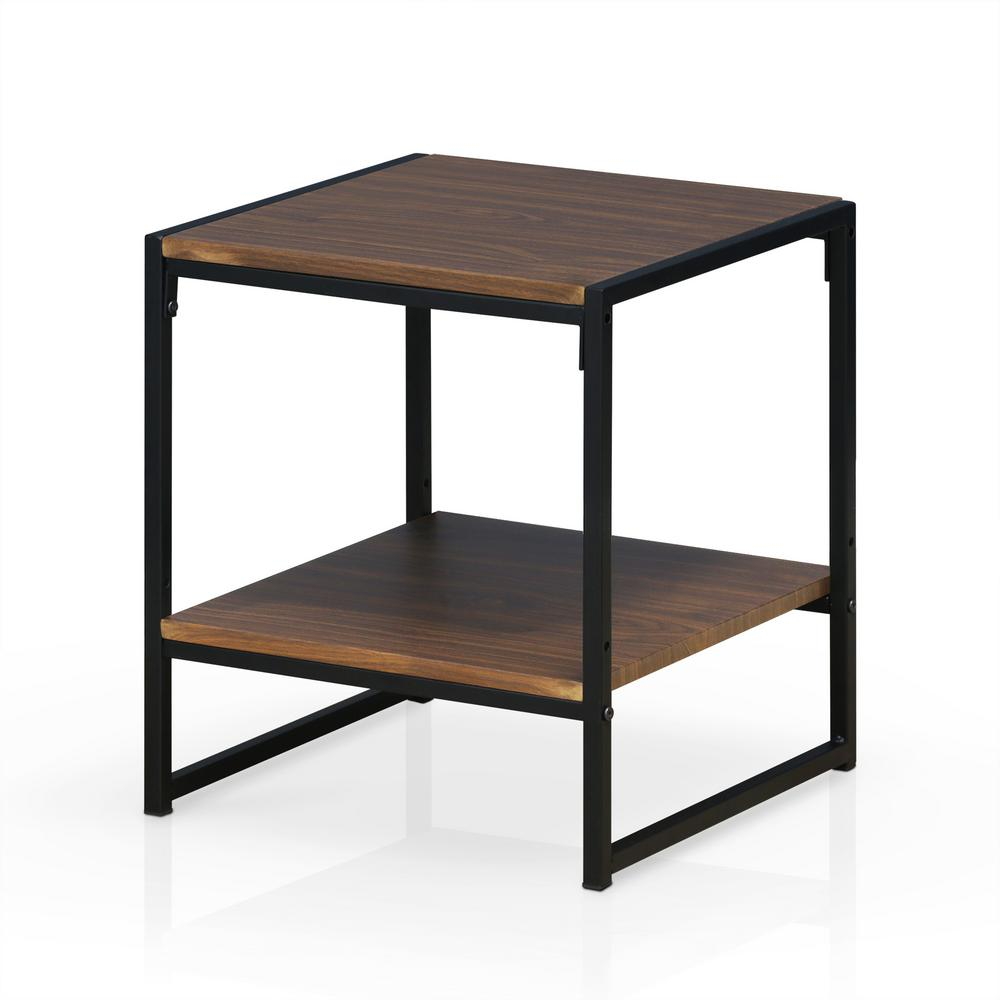 furinno modern dark walnut tier end table the home tables liberty ocean isle dining set pottery barn french country console next kmart bedding sets conduit furniture ethan allen