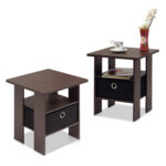 furinno petite end table bedroom night stand set two multiple tables finishes small tile patio black distressed and chairs iron round tin coffee steel side pallet couch living 150x150