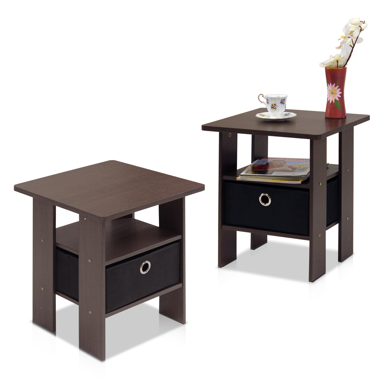 furinno petite end table bedroom night stand set two multiple tables finishes small tile patio black distressed and chairs iron round tin coffee steel side pallet couch living