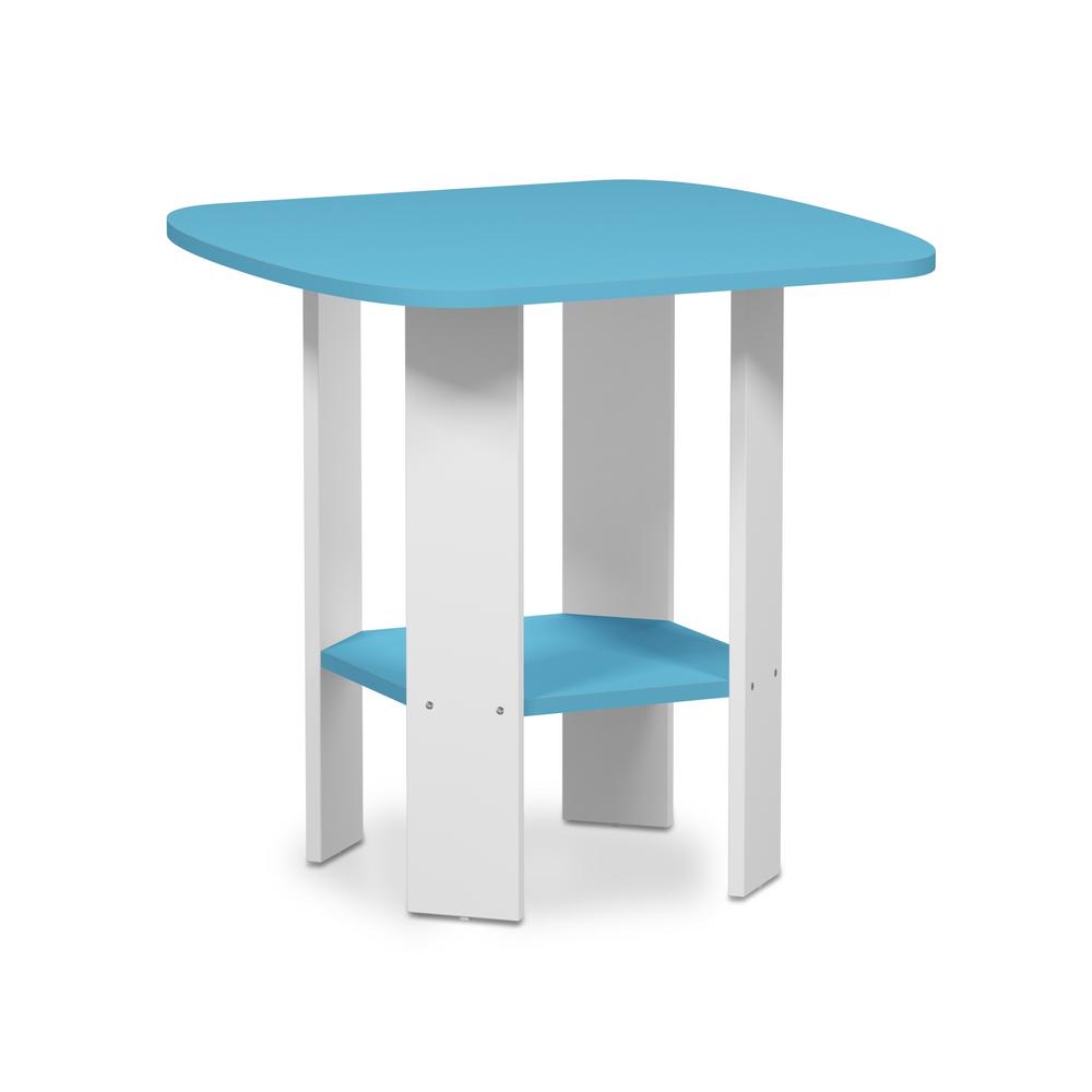 furinno simple design light blue end table the white tables mid century modern bedroom furniture round dining with glass top chrome base row transportation iron pipe desk plans