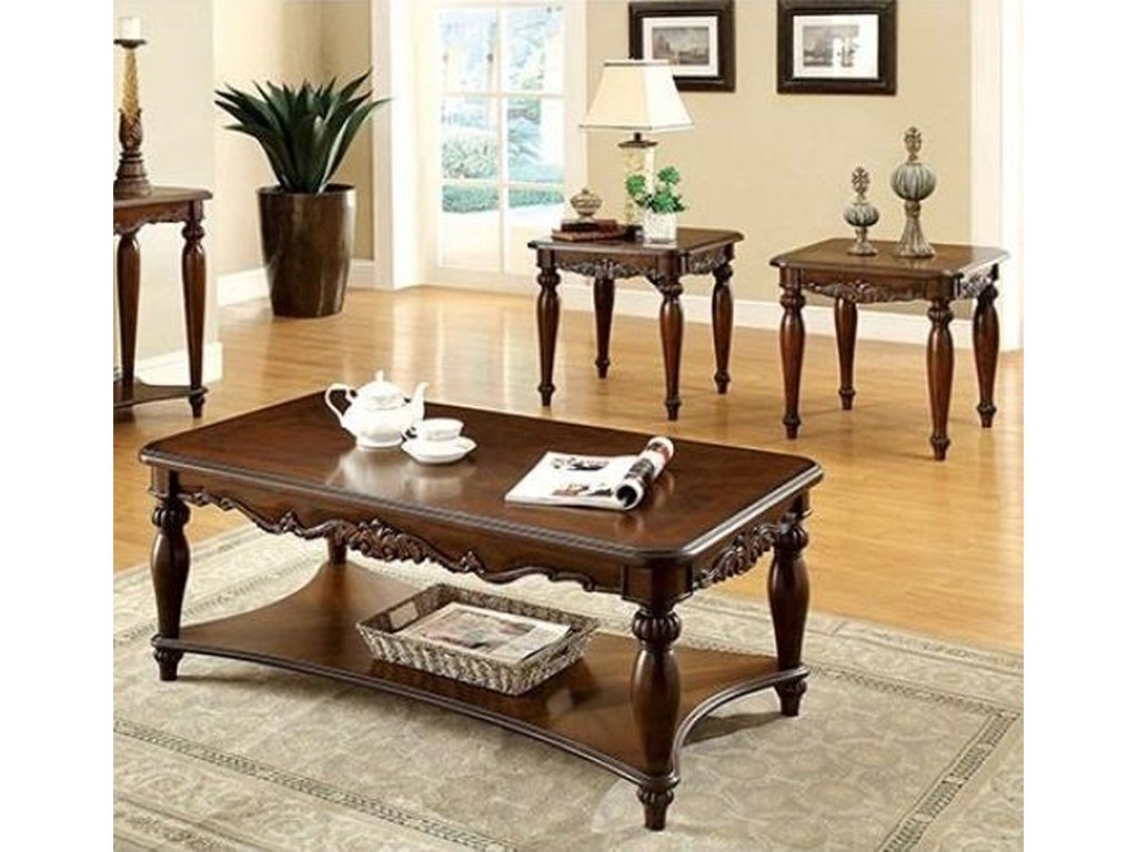 furniture america bunbury traditional piece coffee table and products color tables end set stanley wood reproduction best wall for brown leather large side with storage happy