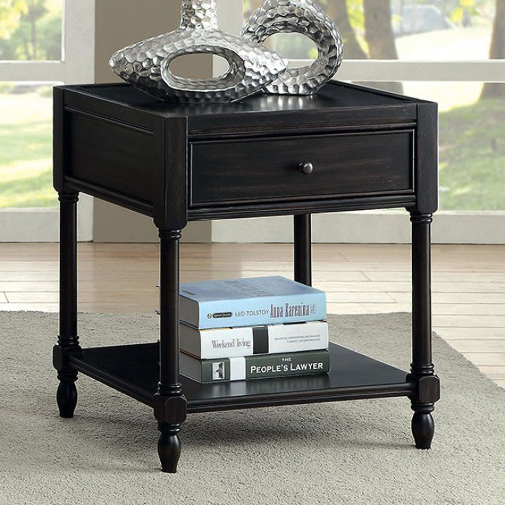 furniture america ciara antique black end tables side nesting kitchen dining large pet cage adjustable lift top coffee table repaint wood target parsons mansfield leather sofa