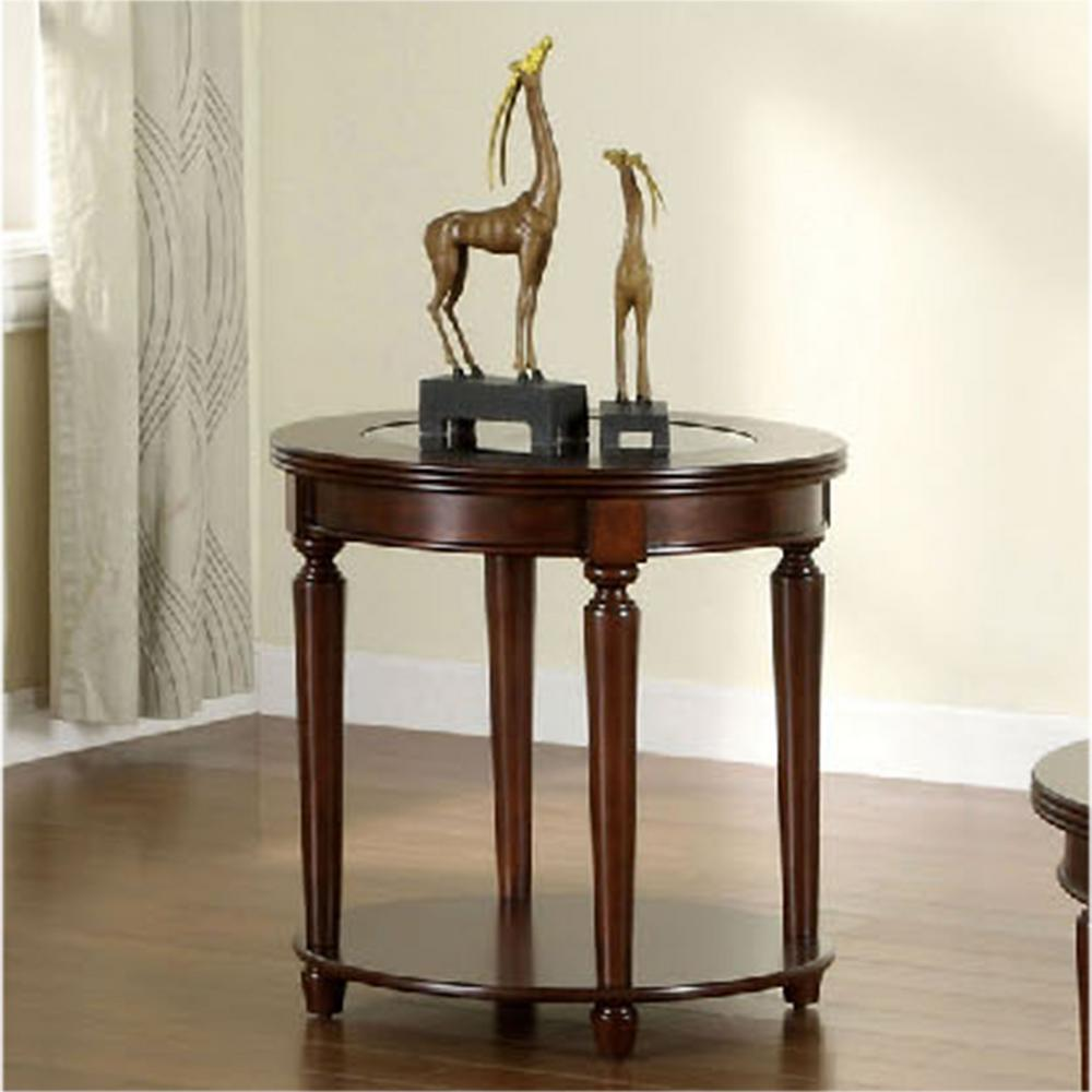 furniture america granvia dark cherry end table the tables wood oriental stacking one piece coffee inch high console and entertainment center set castro convertible recliner wedge