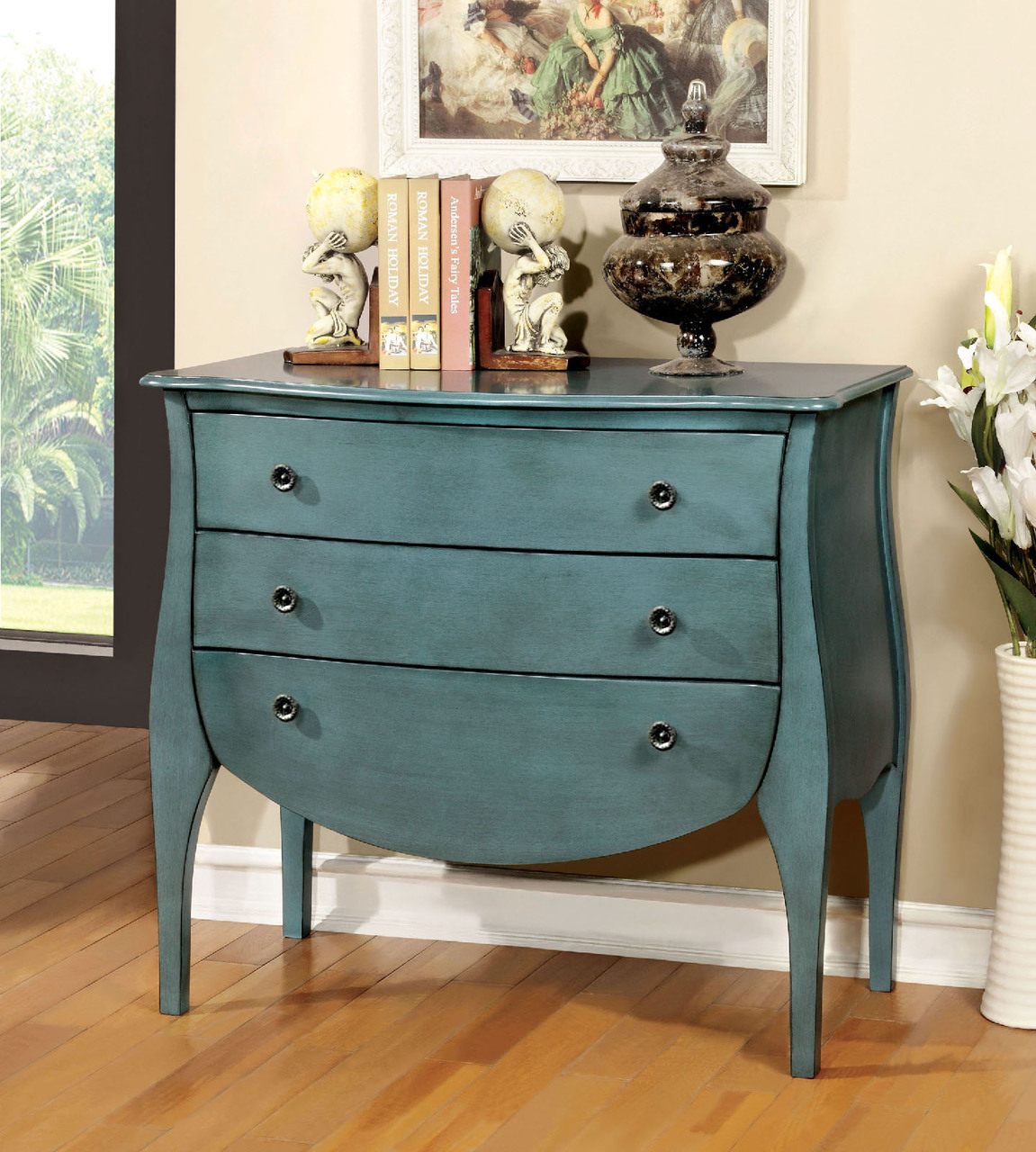 furniture america havre collection antique teal accent table end diy pet whalen mfg inc small white side for nursery outdoor patio seating winchester garden couch tables sauder