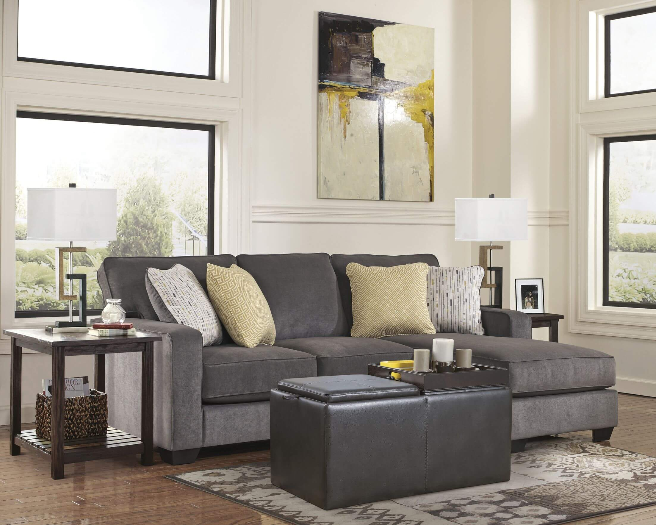furniture amusing grey leather sofa best lastest new design amazing for way living room sectional with storage ott and wooden side table suit end tables west elm mosaic coffee