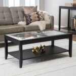 furniture carson coffee table multiple finishes endearing syrah espresso with frosted glass larkin end tables large square magnolia house line cream colored lamps antique top box 150x150