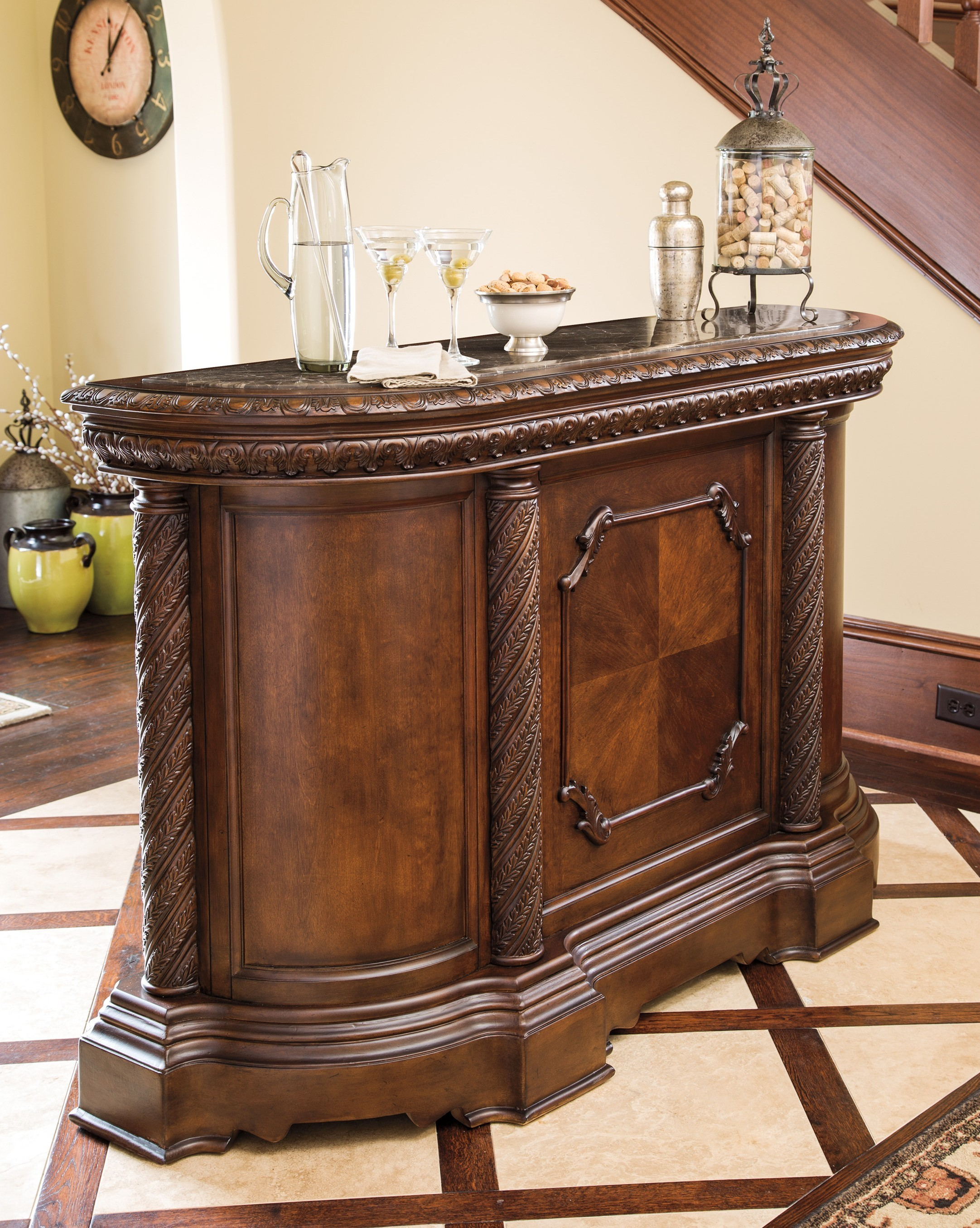 furniture elegant ashley north shore for home bar with marble top dining room idea wildon website reviews bedroom suites company end table iron and chairs unfinished wood accent
