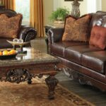 furniture elegant ashley north shore for home brown leather sofa with square coffee table living room idea canopy dresser and mirror end gloss round fire pit black tables pipe 150x150
