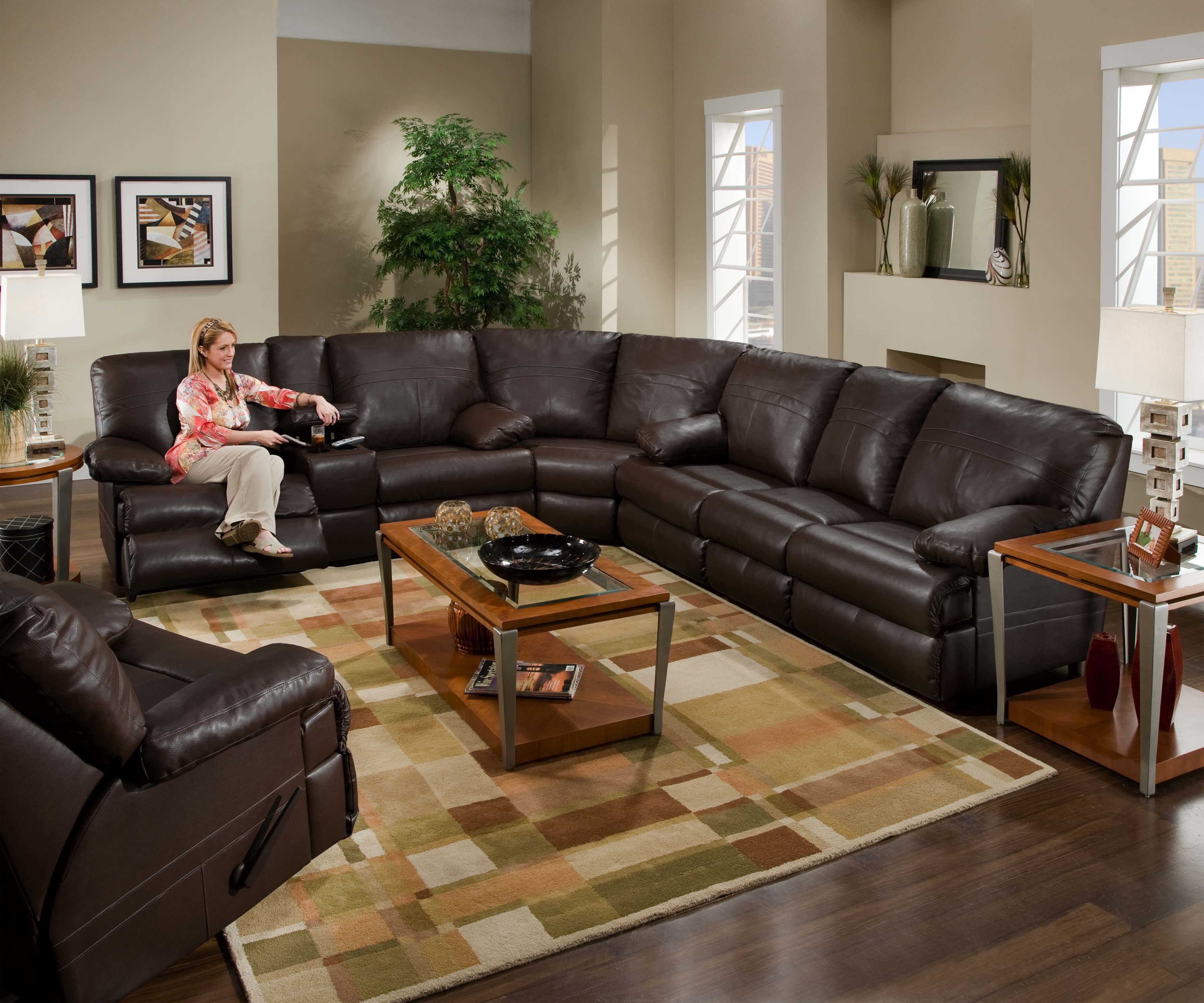 furniture elegant oversized sectionals sofa for living room dark brown leather reclined with rectangle coffee table idea ikea sectional sofas sleeper sectio end tables couch ethan