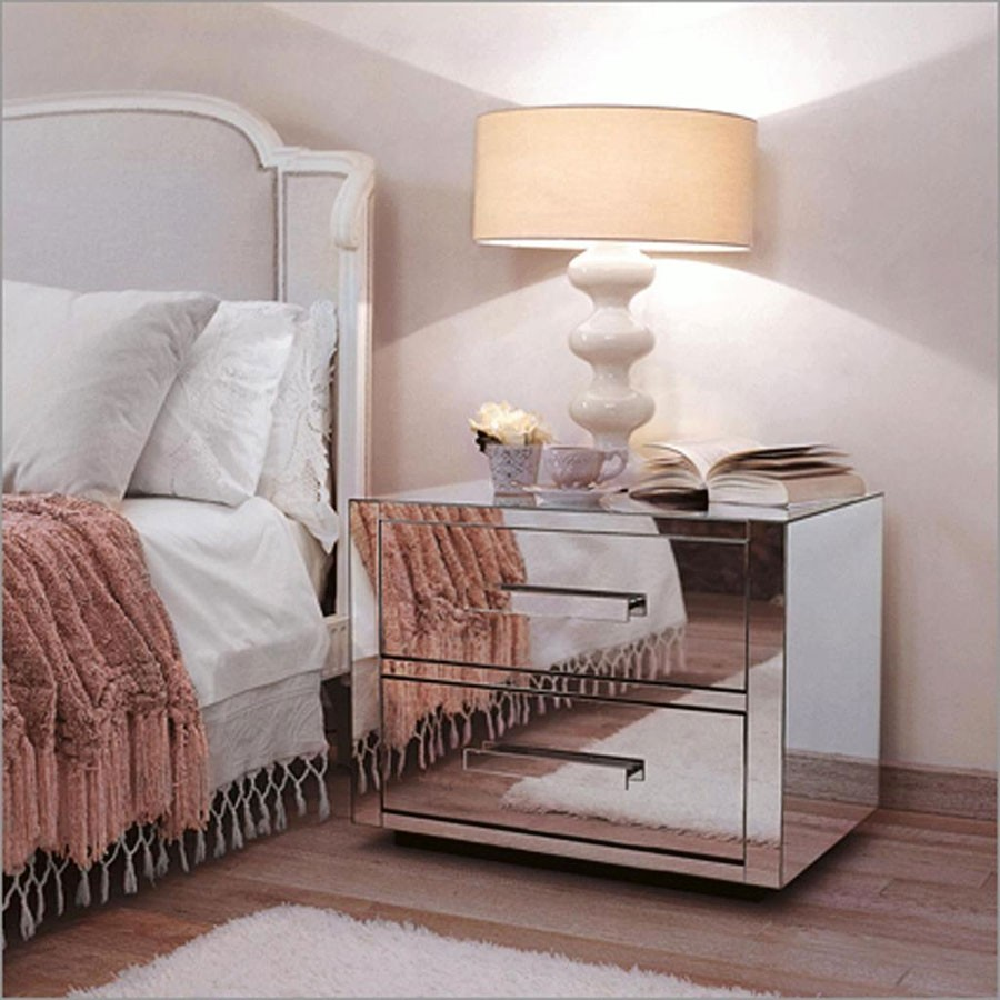 furniture mirrored side table wood and nightstand tall ivory end night stand mirror bedside tables drawer gold nigh bedroom country wagon coffee corner cabinet universal broyhill