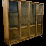 gently used broyhill furniture off chairish mid century modern brasilia display case shelving unit custome hairpin legs end tables espresso colored ethan allen fabrics selection 150x150