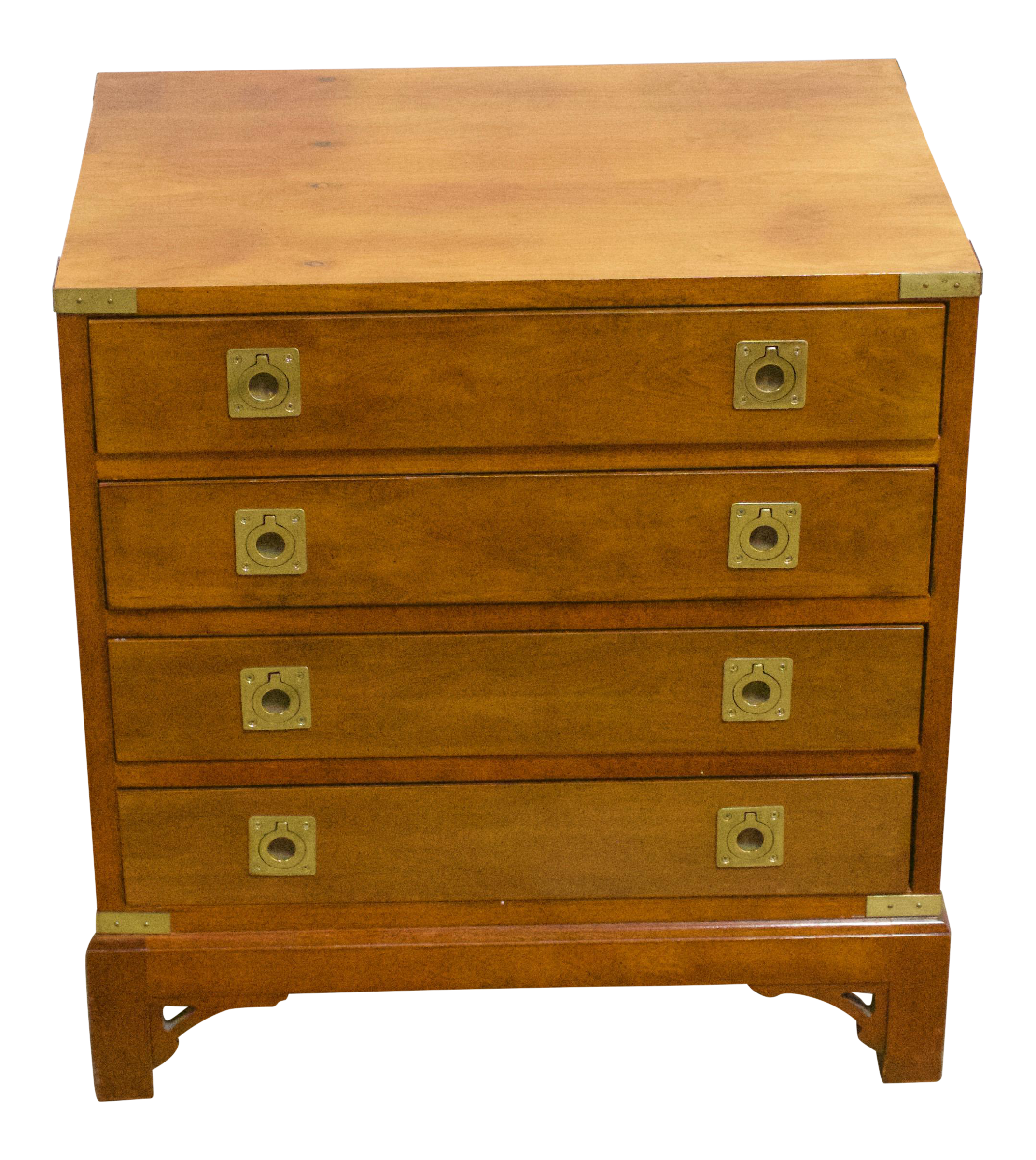 gently used ethan allen furniture off chairish vintage campaign chest brass pulls end tables craigslist paintable bedside ashley glass top coffee table leons thunder bay pipe