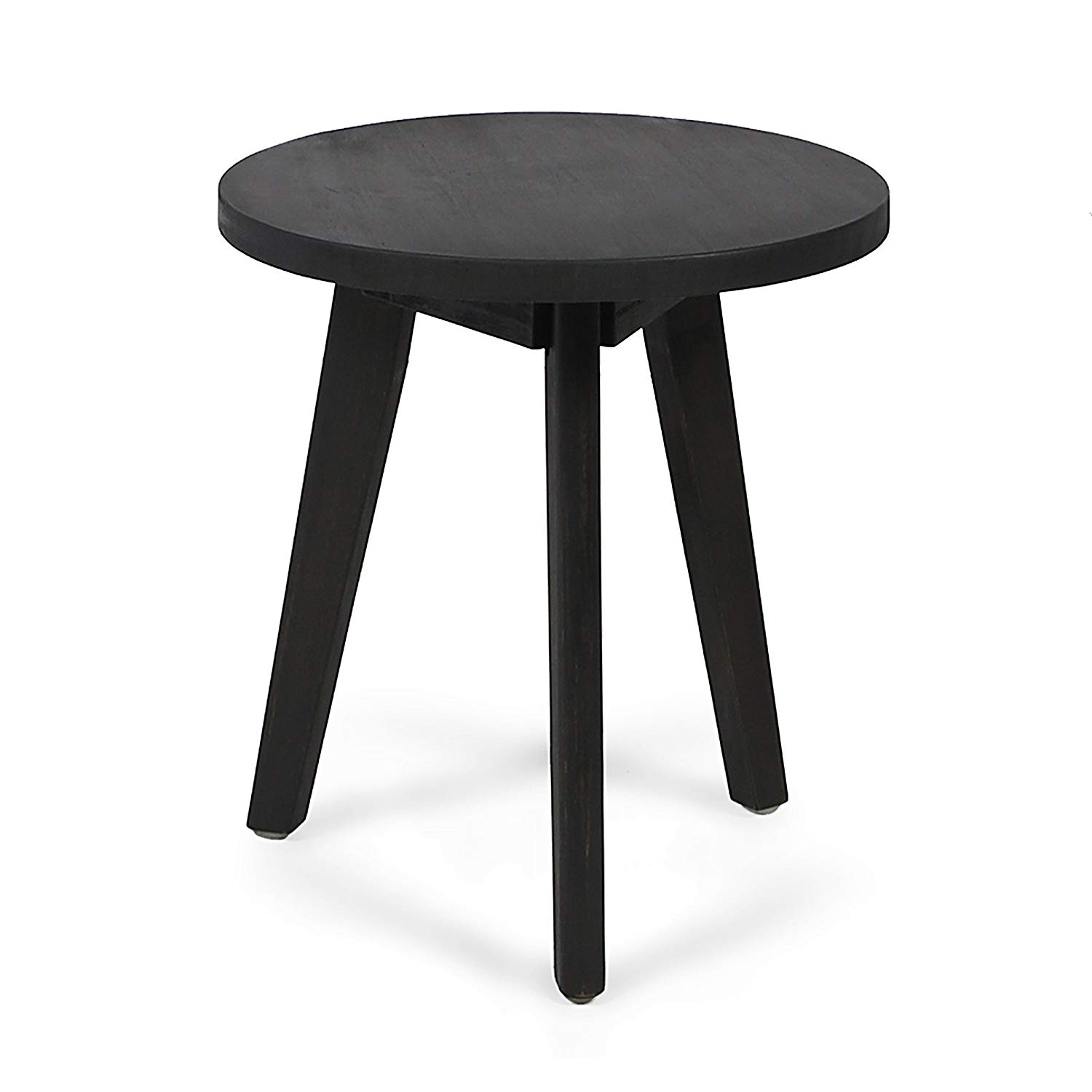 gino outdoor acacia wood side table dark gray finish little black end tables glass display case coffee modern furniture portland cork block accent round metal with top inch