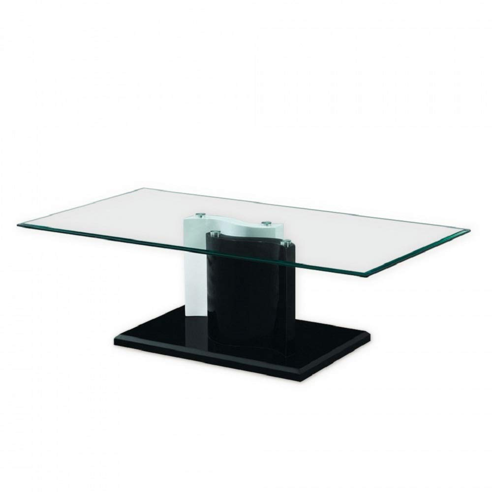 glass and mirror fgm modern coffee dining high end tables room table black kitchen stanley desk with hutch custom top for vintage lane furniture tray ethan allen heirloom