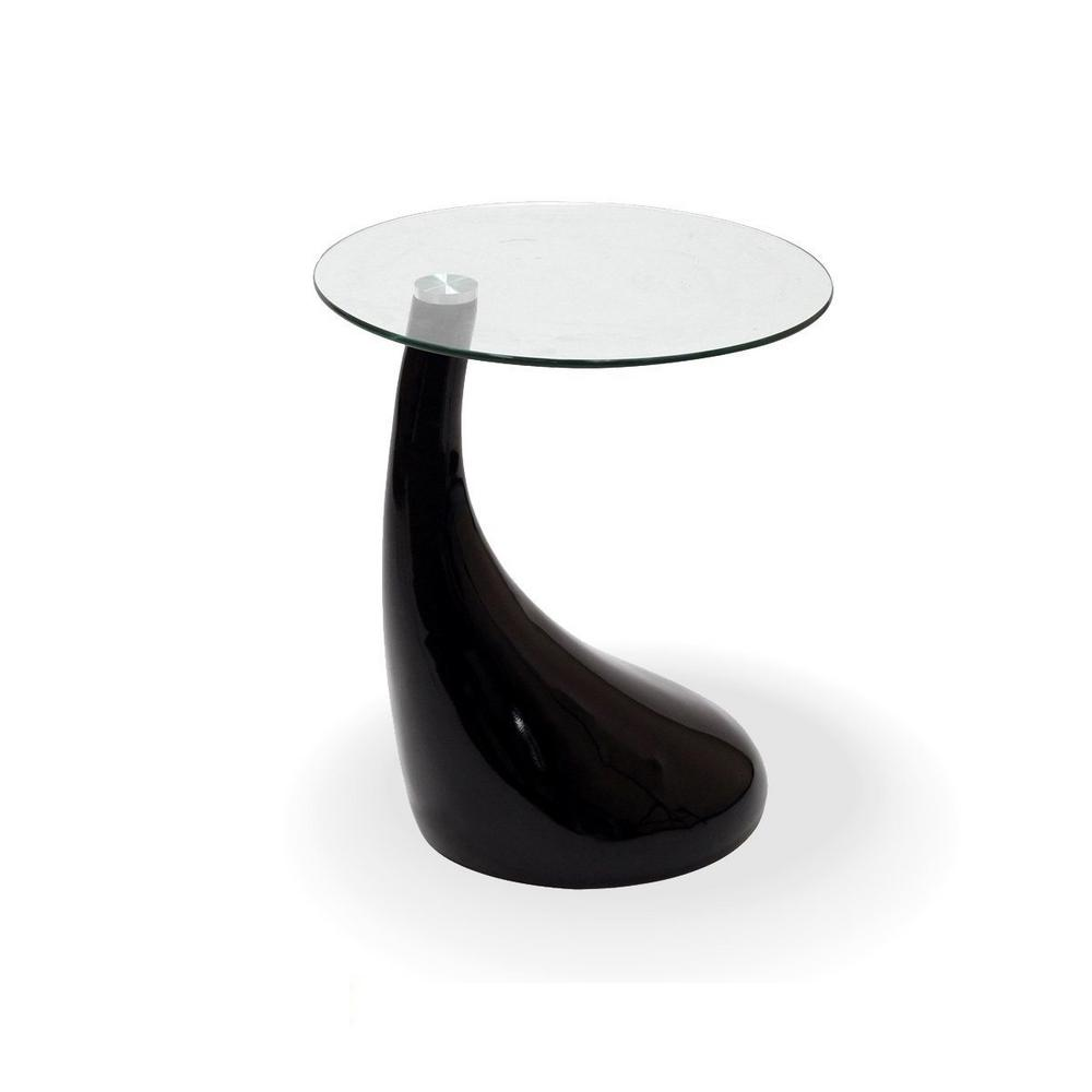 glass and mirror teardrop side table black color with coffee tables ctb round end top metal legs white accent ashley code leons peterborough small plastic patio ethan allen