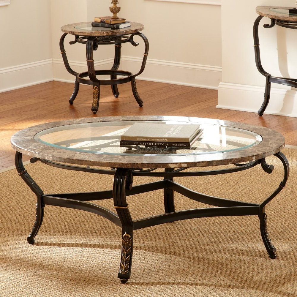 glass coffee table sets set round shape from steel and with livingroom tables end side log furniture cushions laura ashley living room inches long small square bamboo top black