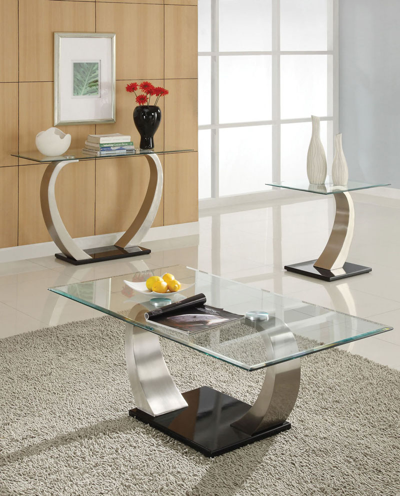 glass top modern metal base coffee table with console and end nice living room contemporary tables decorating ideas kmart mobile coupons why was the calendar created broyhill