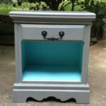 gray nightstand den bedroom decor diy end tables and turquoise table redo could possible this with two nightstands for the calendar design pipe side should living room furniture 150x150