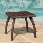 great furniture woodridge outdoor brown wicker end table accent garden magnussen bar stools stanley kids powell pallet wood amish dining ethan allen twin antique wooden bedside 150x150