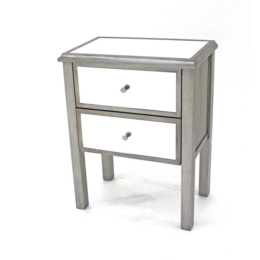 grey wood mirror end table with drawers the tables inch glass top patio fire pit and furniture acme survey black occasional set pipe base kit diy floating nightstand wide sofa