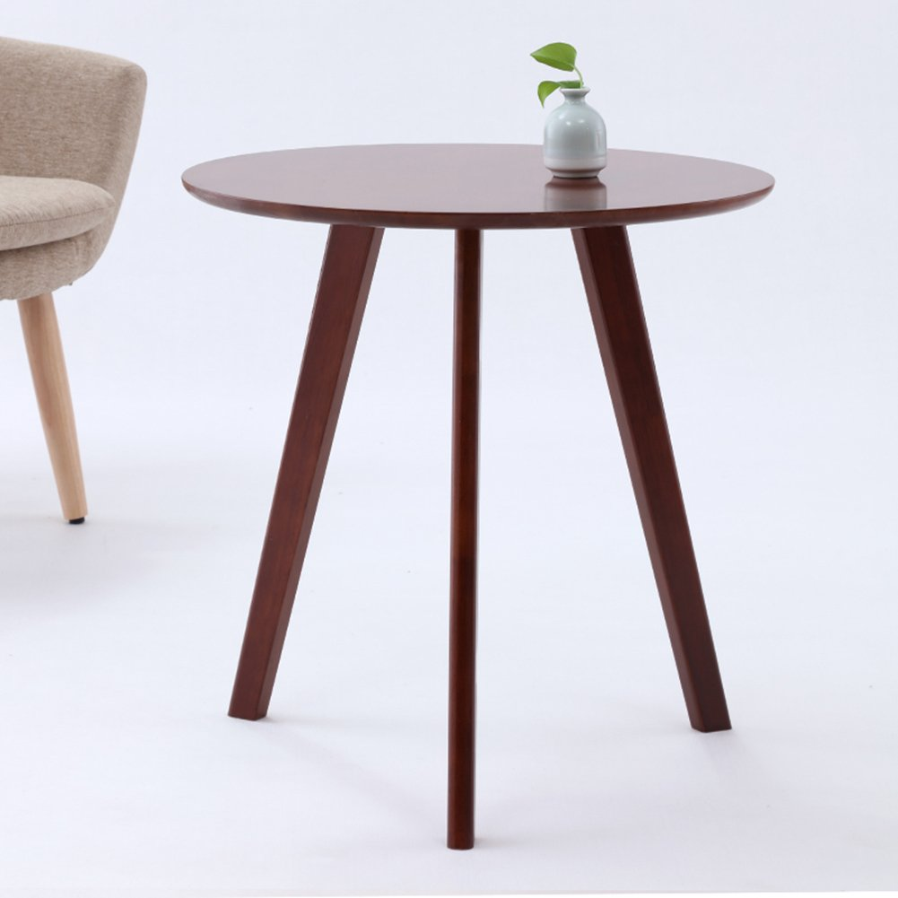 haipeng small coffee sofa side end tables for spaces corner bedside table wooden round square color reddish brown kitchen bookcase nightstand saarinen west elm clover rustic solid