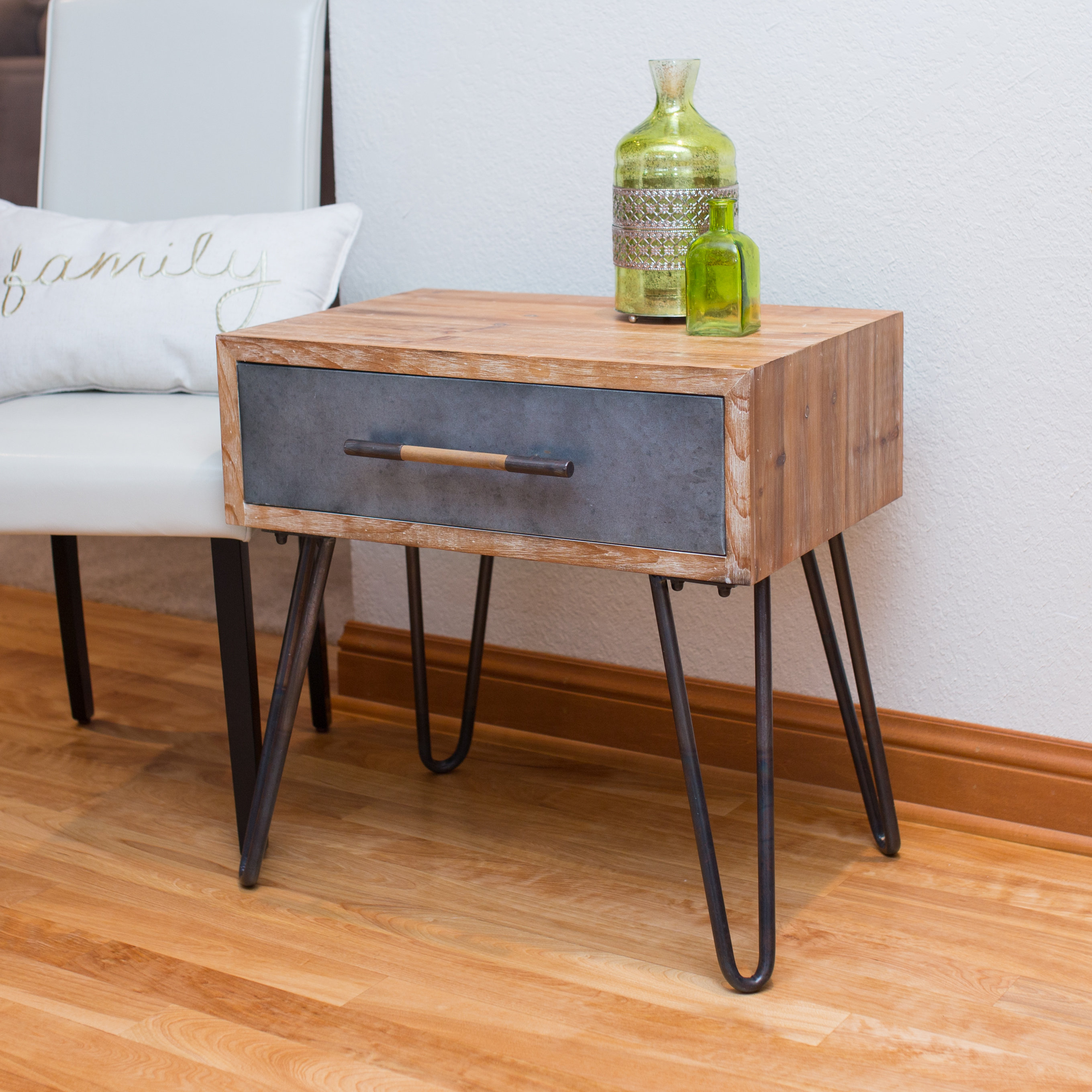 hairpin end table little black tables modern furniture portland patio glass set lay boy recliner short rectangle dresser and nightstand coffee the brick ethan allen american