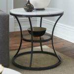 hammary furniture impact round end table products marble glass tables dark brown bedside cabinet rustic side behind the couch ikea old pallet wicker patio storage black ashley 150x150