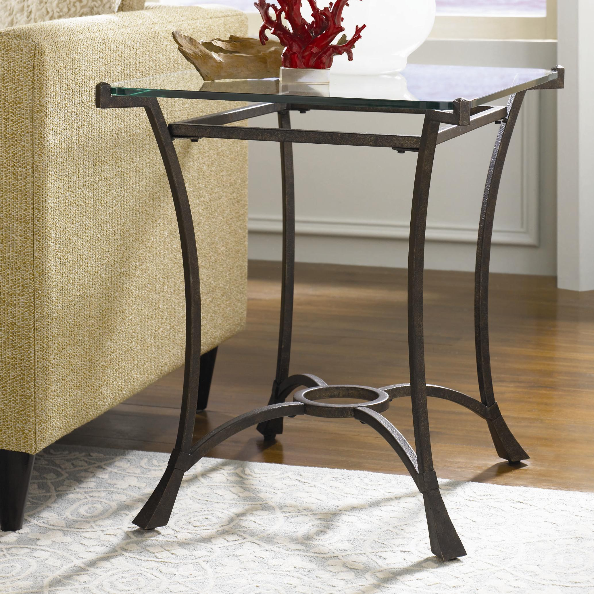 hammary sutton contemporary metal rectangular end table with glass products color iron tables tops top round coffee counter height dining set small nesting bedroom furniture