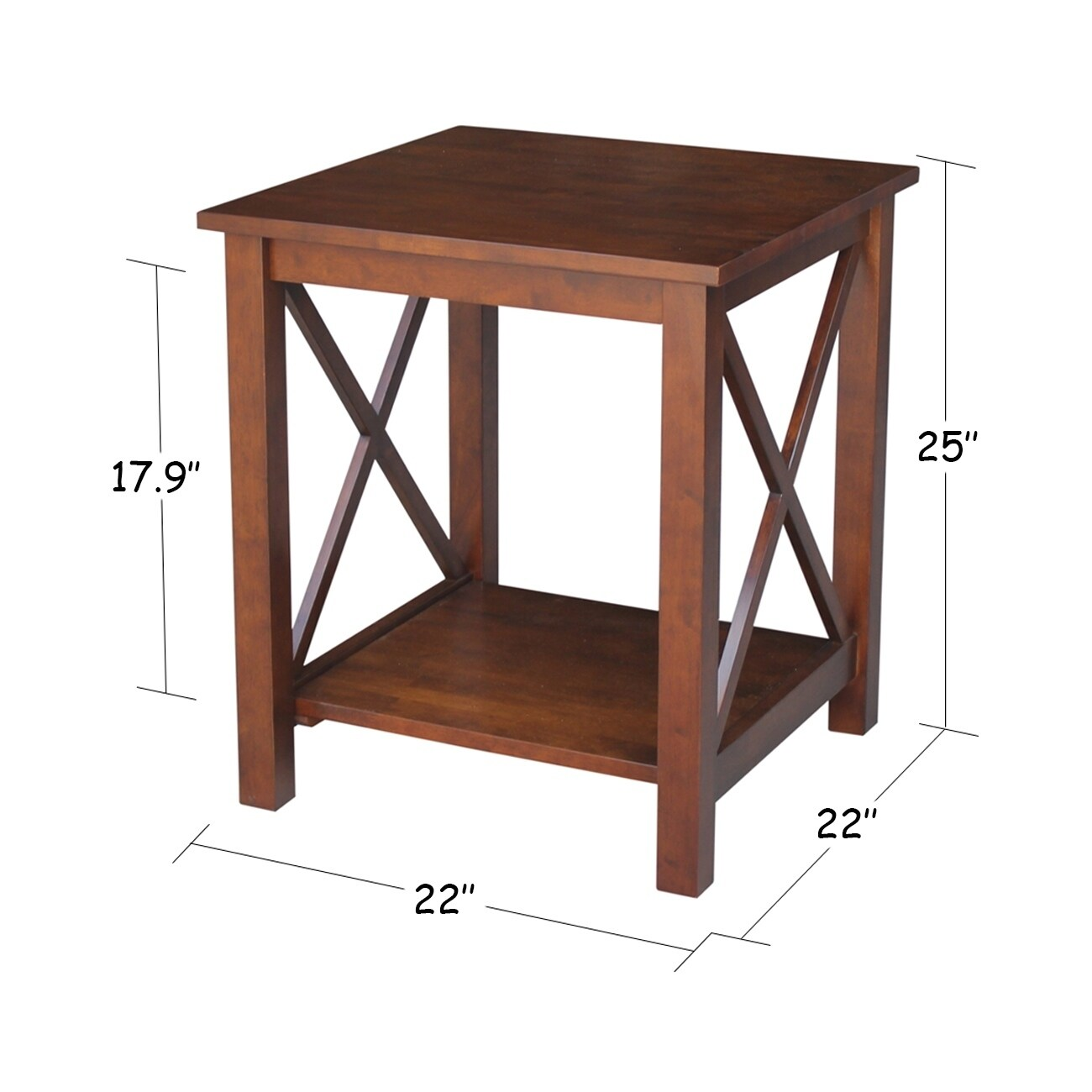 hampton espresso wood end table free shipping today tables glass dining black legs marble and silver coffee rustic nest broyhill furniture wagon wheel gloss corner simple dog