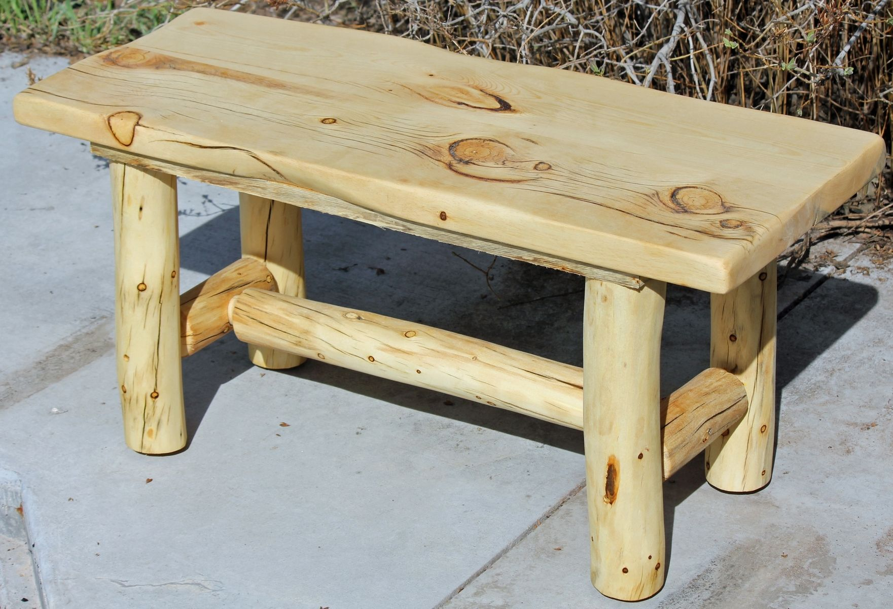 hand made rustic log end tables nightstands and coffee from logs custom pallet table instructions harper farm furniture with iron legs stickley chair marble target entryway
