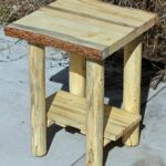 hand made rustic log end tables nightstands and coffee from logs the wood custommade slim grey bedside table riverside craftsman home collection diy console with pipe legs vintage 150x150