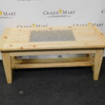 handcrafted coffee table and end tables with glass inlay craigs mart can you spray paint stained wood lamp oak furniture patio living room outdoor stools euro style teresa console 150x150