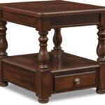 hanover end table cherry american signature furniture wood tables accent and occasional asian lamps high bedside arrangement living room layout ethan allen south hills storage 150x150