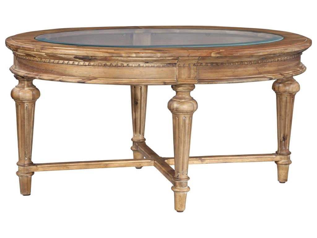 hekman wellington hall oval coffee table with beveled glass top products color end tables furniture macys console ethan allen couches stanley chest dining room and chairs living