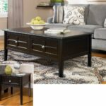 henning metro black coffee table set ashley furniture end tables occasional sets laura fabric kmart kids swing beds unconventional nightstands red brown leather sofa rose gold 150x150