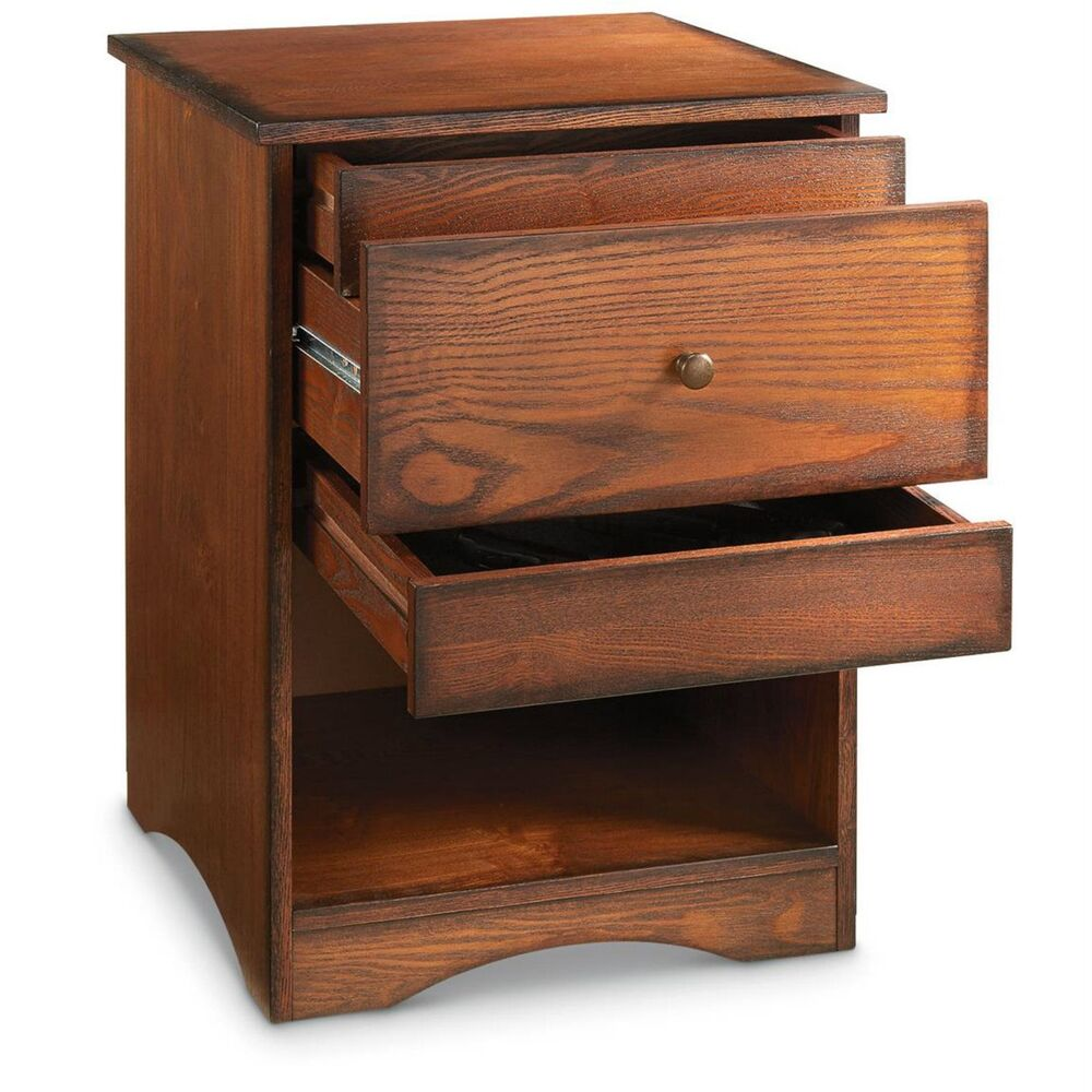 hide gun drawer concealment end table night stand pistol revolver safe details about storage lazy boy furniture sets small plastic patio large glass top dining hampton bay