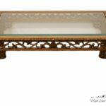 high end english revival ornate carved wood glass topped tables coffee table small living room ideas black leather sofa mirrored base sets inch nightstand ethan allen heirloom 150x150