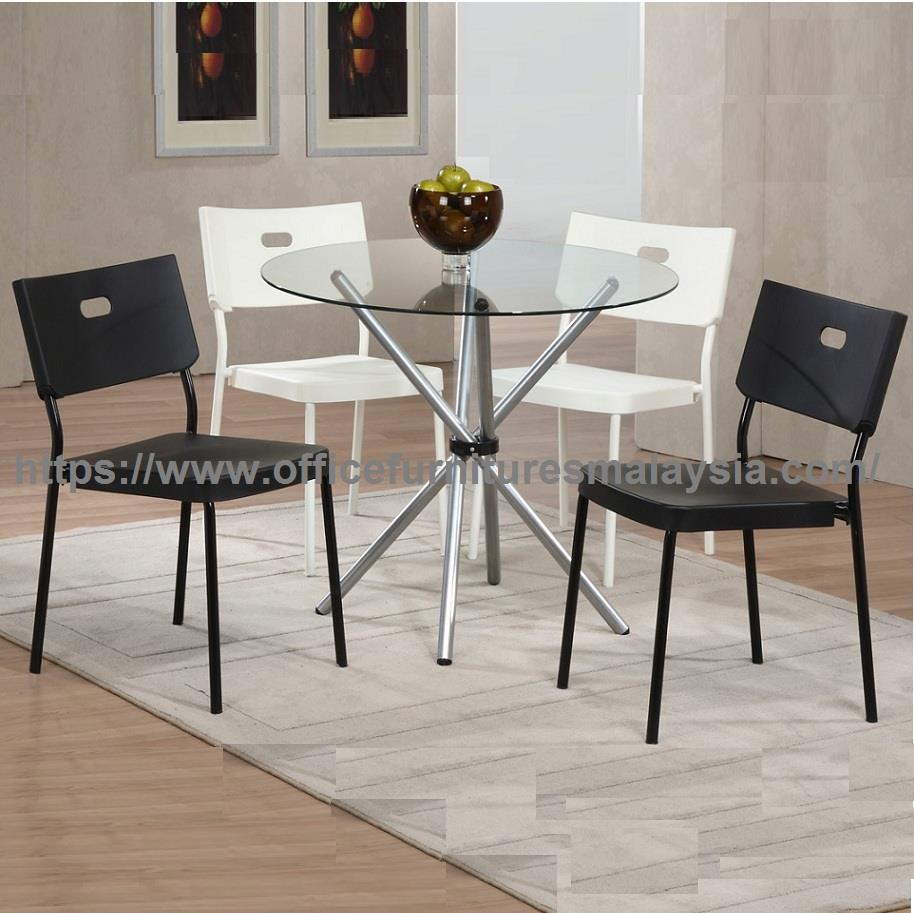 high quality round glass top table end dining set ygcds ampang officefurnitures tables shallow console with drawers foxcroft furniture scandinavian ceiling light looking for nest