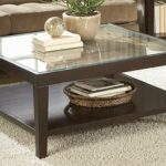 home elegance vincent espresso cocktail table with glass insert end the classy furniture row las cruces stickley rugs round pipe camel color leather sofa who sells universal 150x150