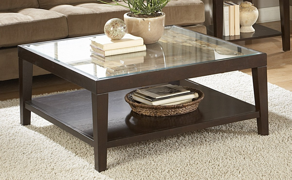 home elegance vincent espresso cocktail table with glass insert end the classy furniture row las cruces stickley rugs round pipe camel color leather sofa who sells universal