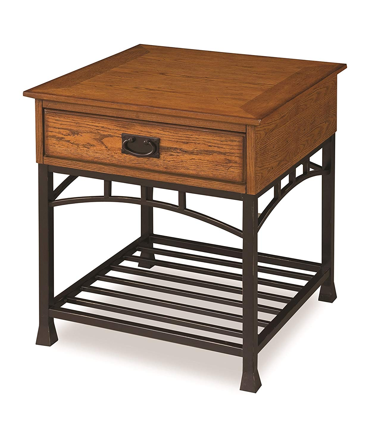 home styles modern craftsman end table distressed oak tables finish kitchen large black coffee ethan allen bar leick stools desk made from pipe side with magazine rack stanley